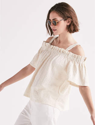 Lucky Brand OFF SHOULDER JAQUARD