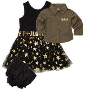 Baby Girl's Two-Piece Shirt & Dress Set