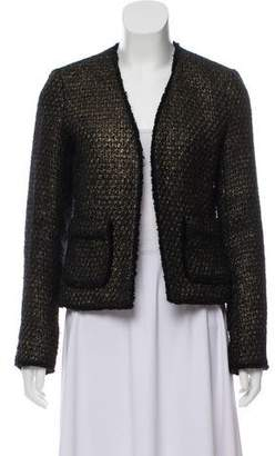 MICHAEL Michael Kors Patterned Open Front Blazer