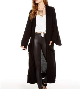 Chaser Women's Love Rib Long Sleeve Henley - True Black