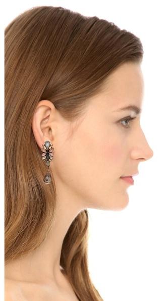 Erickson Beamon Teardrop Crystal Earrings