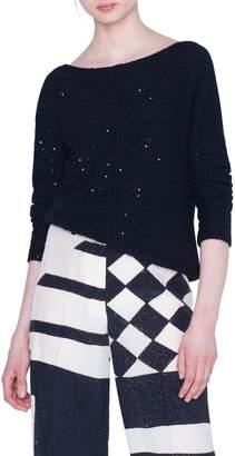 Akris Paillette Cashmere Blend Sweater