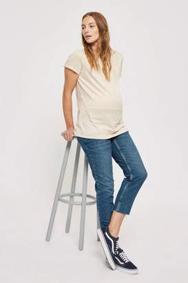 Topshop **Maternity Mid Stone Straight Leg Jeans