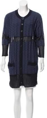 Just Cavalli Long Sleeve Knit Cardigan