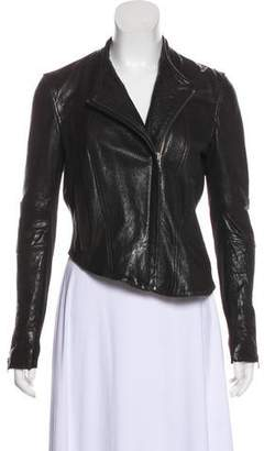 Helmut Lang Leather Zip-Up Jacket