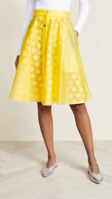 Paskal Laser Cut Skirt with Vinyl Slip