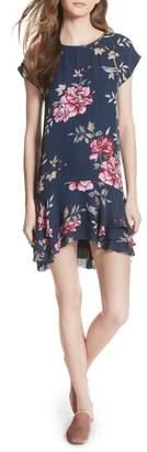 Joie Coreen Drop Waist Floral Silk Dress