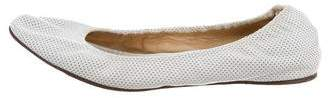 Lanvin Perforated Round-Toe Flats