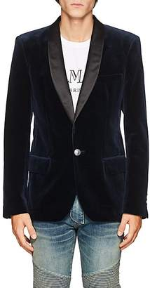Balmain Men's Velvet One-Button Tuxedo Jacket