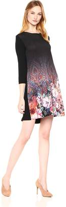 Desigual Women's Freya Woman Knitted 3/4 Sleeve Dress, Black