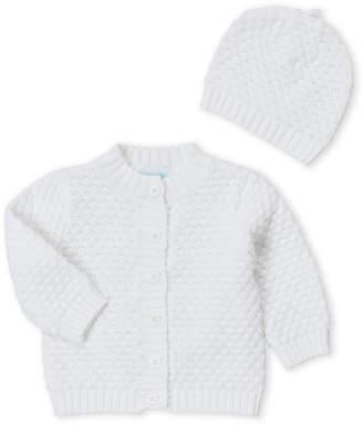 Baby Essentials Baby Dove (Newborn Girls) Two-Piece Cardigan & Hat Set