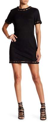 Gracia Floating Bead Faux Suede Dress