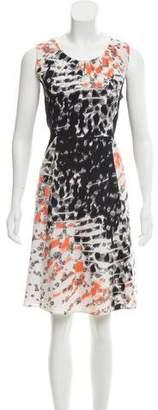 Tahari Printed Knee- Length Dress
