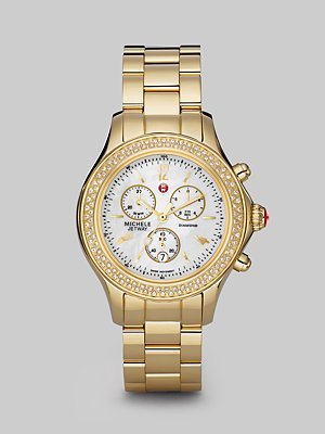 Jetway Goldplated Diamond Chronograph Watch