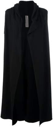 Rick Owens cashmere sleeveless cardi-coat