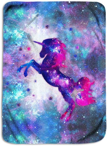 45'' x 62'' Purple Unicorn Fleece Blanket