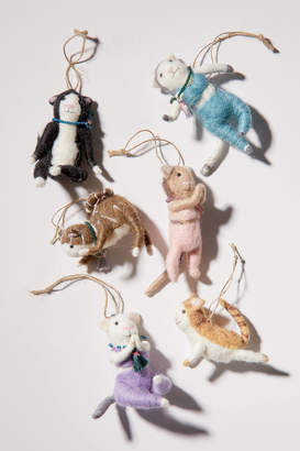Urban Outfitters Yoga Cat Christmas Ornament