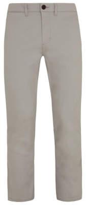 Light Grey Straight Fit Stretch Chinos