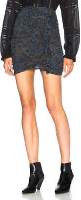 Etoile Isabel Marant Edna Printed Chiffon Silk Skirt