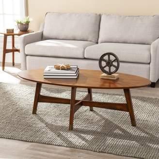 Mid-Century MODERN Southern Enterprises Rayonta Oval Coffee Table, Midcentury Modern, Dark Sienna