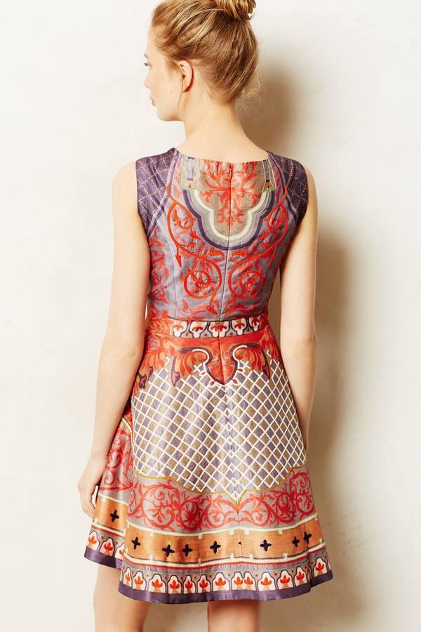 Anthropologie Pankaj & Nidhi Twilight Temple Dress