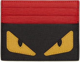 Fendi Black Bag Bug Card Holder $250 thestylecure.com