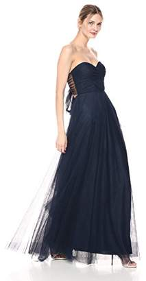 Jenny Yoo Women's Julia Sweetheart Tulle Convertible Long Gown
