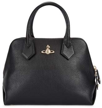 Vivienne Westwood Balmoral Black Grained Leather Tote