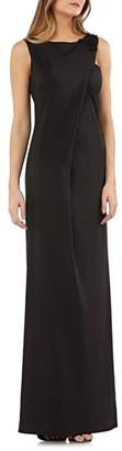 Kay Unger Sleeveless Stretch Crepe Gown