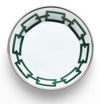 Richard Ginori 1735 Catene Green Saucer