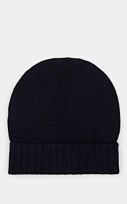 Barneys New York MEN'S RIB-KNIT WOOL BEANIE - NAVY