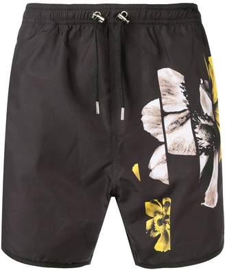 Neil Barrett flower print swim shorts