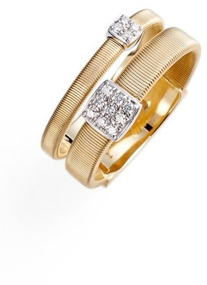 Women's Marco Bicego Masai Two Strand Diamond Ring $1,850 thestylecure.com