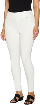 Lisa Rinna Collection Petite Pull-On Skinny Ankle Jeans