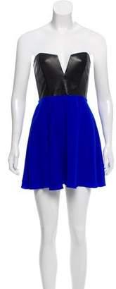 Mason Leather Accented Mini Dress