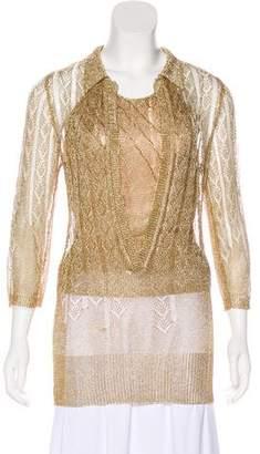 Nina Ricci Metallic Sweater Set