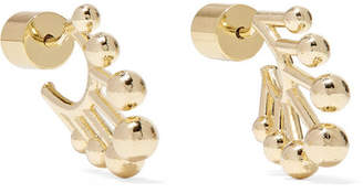Jennifer Fisher Dna Huggie Gold-plated Hoop Earrings - one size