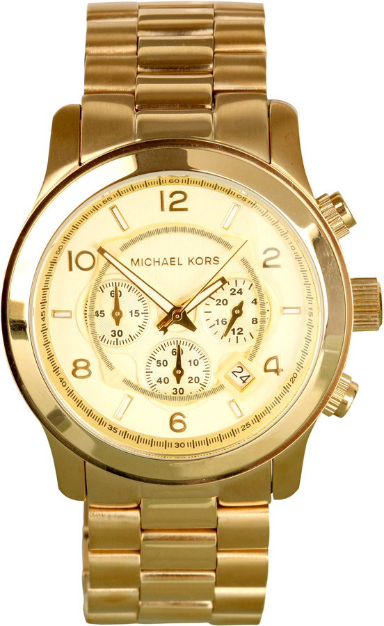 Michael Kors Watches Large Gold Chronograph