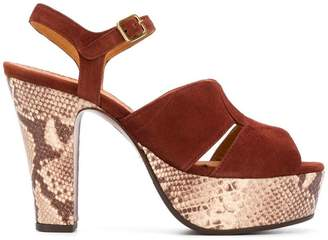 Chie Mihara snake print sandals