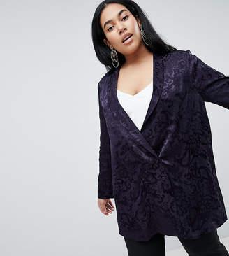 Asos DESIGN Curve soft jacquard blazer
