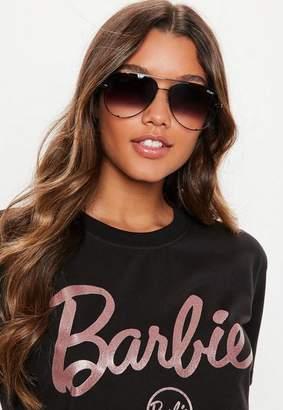 Missguided Quay Australia Black High Key Sunglasses