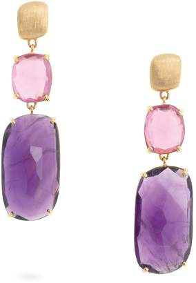 Marco Bicego Yellow Gold and Mixed Stones Murano Drop Earrings
