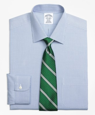 Brooks Brothers Regent Fitted Dress Shirt, Non-Iron Two-Tone Houndstooth