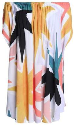 Mara Hoffman Off-The-Shoulder Printed Gauze Coverup