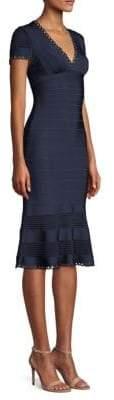 Herve Leger Bandage Flounce Dress