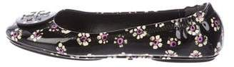 Tory Burch Floral Patent Leather Flats