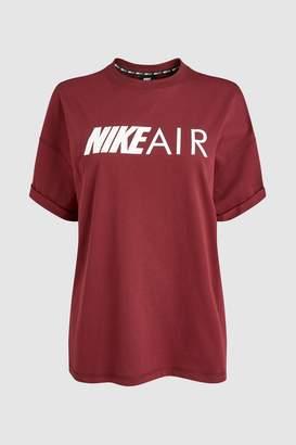 Next Womens Nike Air Maroon Boyfriend Tee