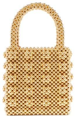 Shrimps - Antonia Faux Pearl Embellished Bag - Womens - Gold