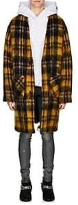 Amiri Men's Plaid Mohair-Blend Cardigan Coat - Yellow