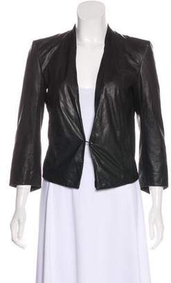 Helmut Lang Suede-Trimmed Leather Blazer